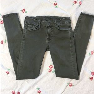 Moss Green 7 For all man kind jeans
